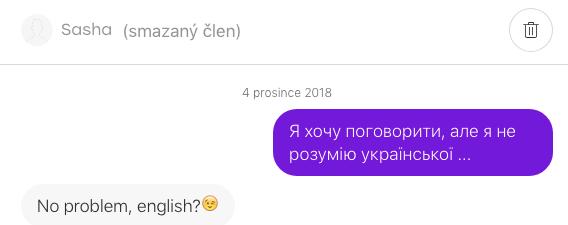 První zpráva holce na Badoo (Sasha z Ruska)