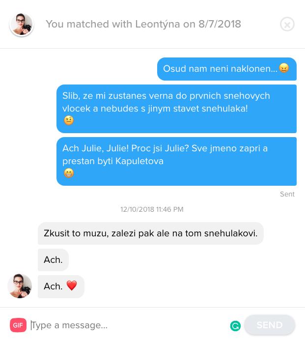 Jak sbalit holku na Tinderu – Leontýna 25