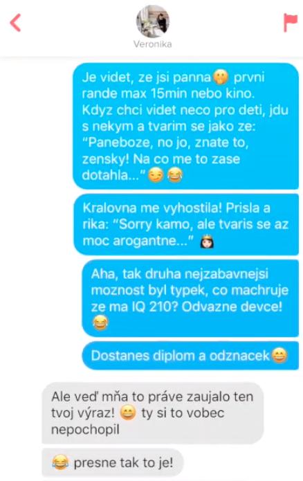 Veronika 28 – jak psát konverzace na Tinderu (2. fáze přechod)