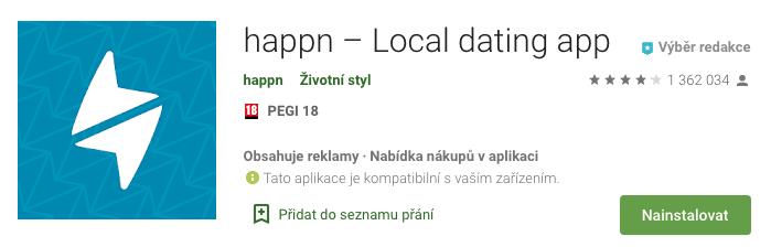 Aplikace seznamky Happn pro Android