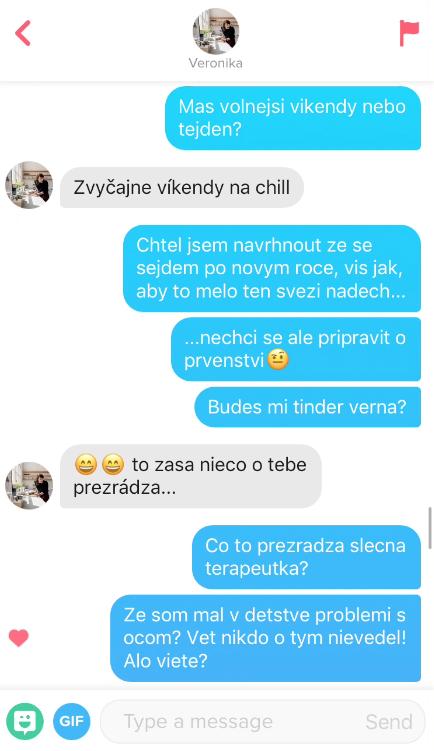 Veronika 29 – jak na si psát s holkou na Tinderu (závírák)